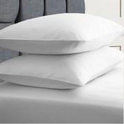 ESSENTIALS PILLOW CASES 132T STD_White